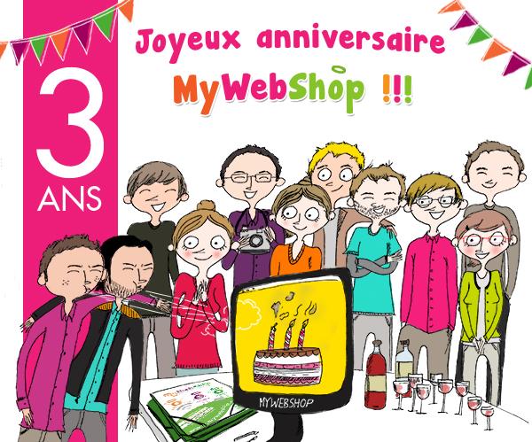 3e anniversaire MyWebShop