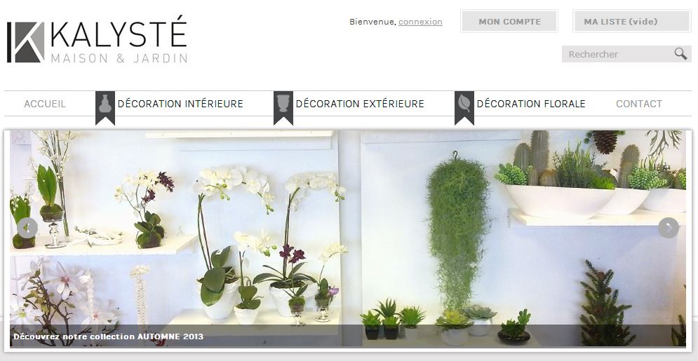 Kalyste d coration int rieure ext rieure et plantes for Site decoration interieure