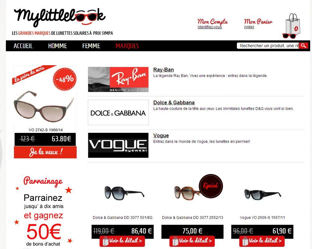 c4c8f853dd21 MyLittleLook, des lunettes solaires de marque à prix sympa